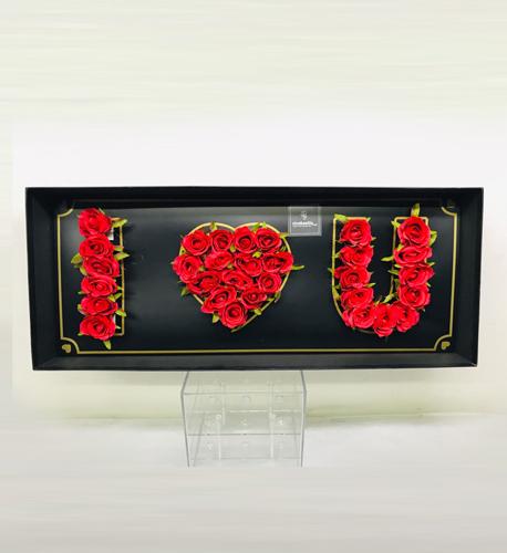 I love you Kırmızı Yapay güller