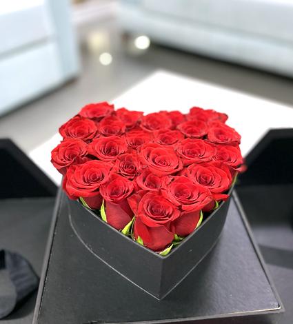 Açılır Kutuda Kalpli Güller